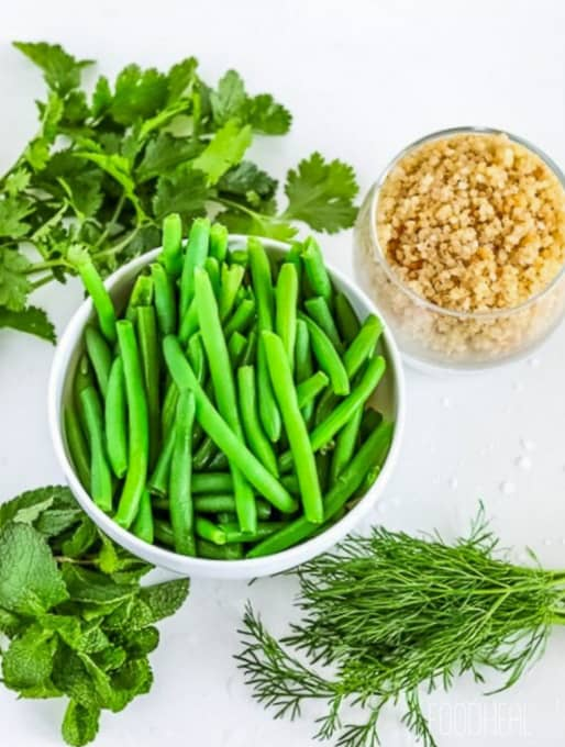 Quinoa+green beans vegan bowl-ing.