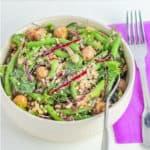 Quinoa+green beans vegan bowl-fin