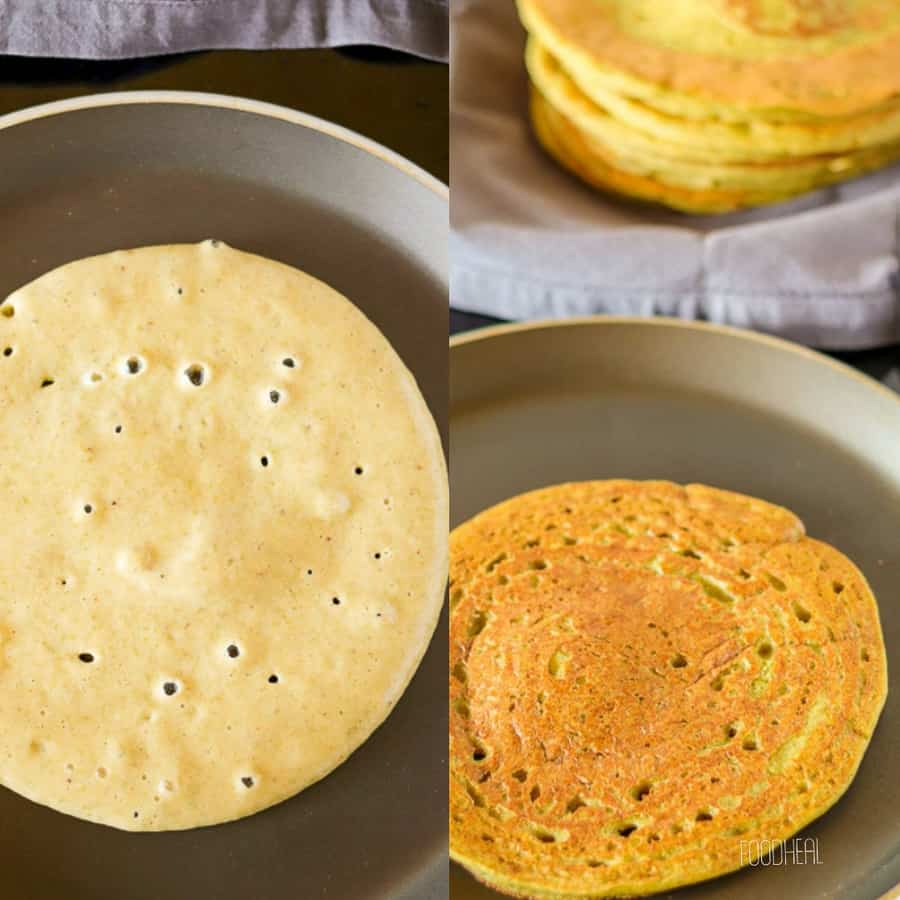 vegan mung beans pancakes-cook