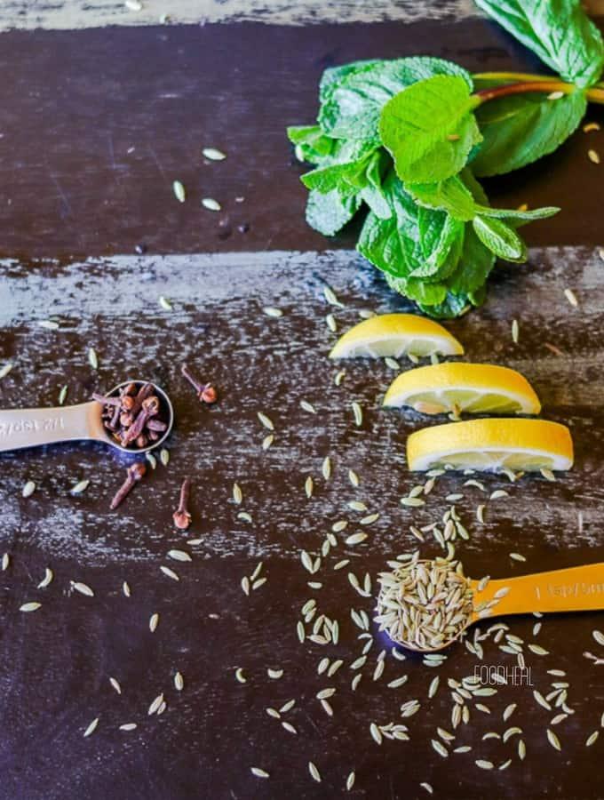 Medicinal fennel-cloves herbal tea-ing