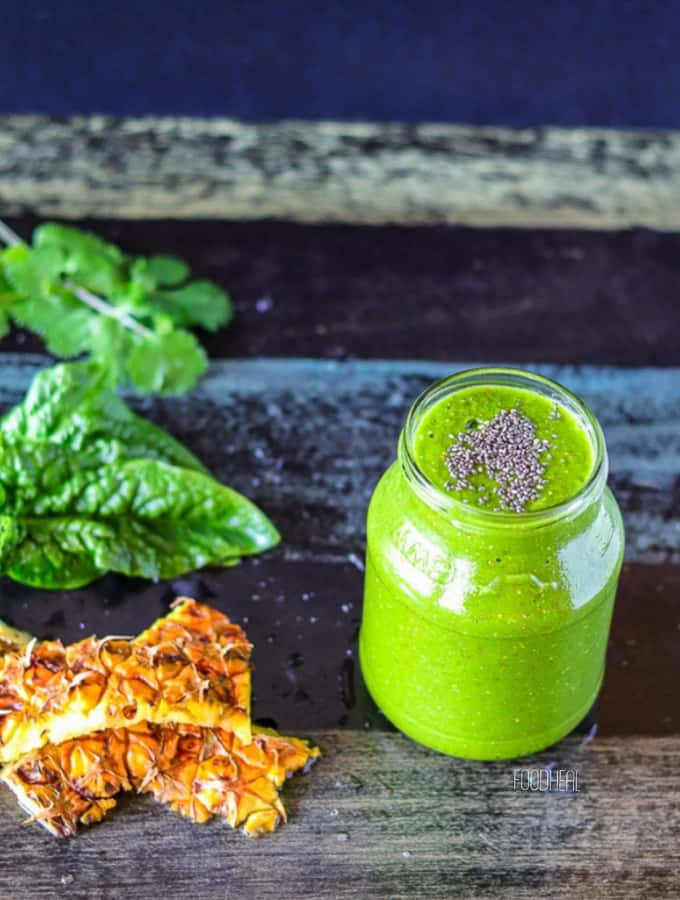 anti-rheumatoid pineapple cilantro smoothie