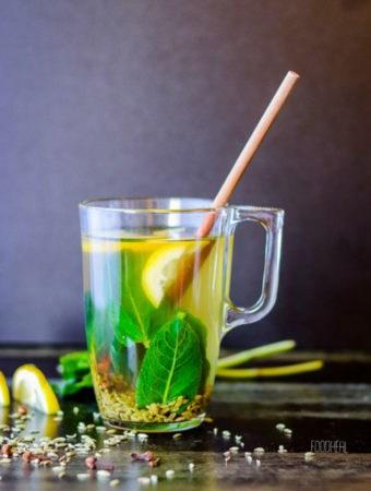 Medicinal fennel-cloves herbal tea