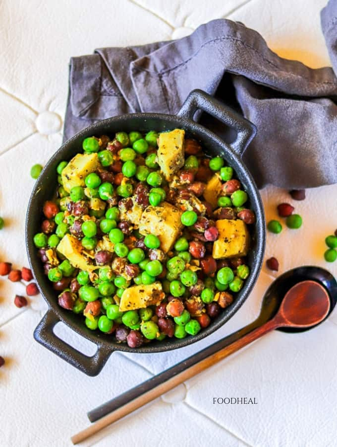 vegan peas and artichoke recipe-side-top