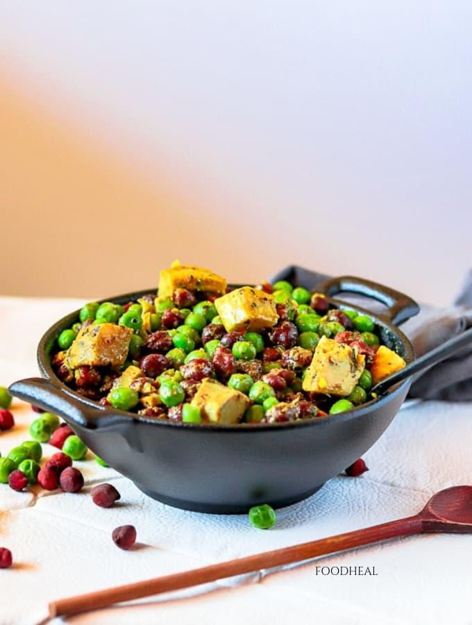 vegan peas and artichoke recipe-side