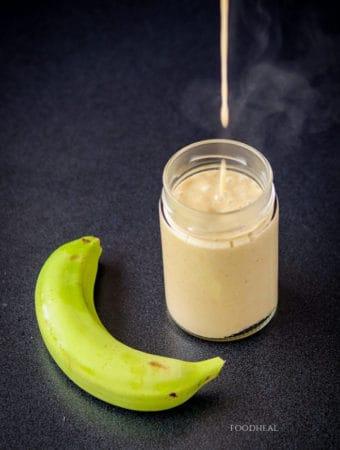Easy creamy green banana sauce recipe-drop
