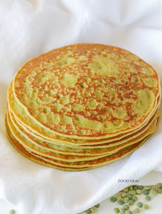 Healthy Oats+Split Green Pea Pancakes