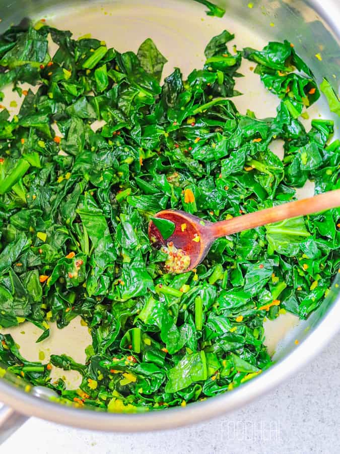 spiced spinach