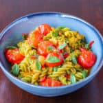 cherry tomatoes with gluten-free pasta