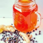 Healthy turmeric ginger anti-inflammation tea