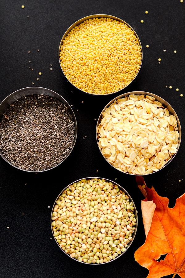 ingrédients pour la farine maison sans gluten