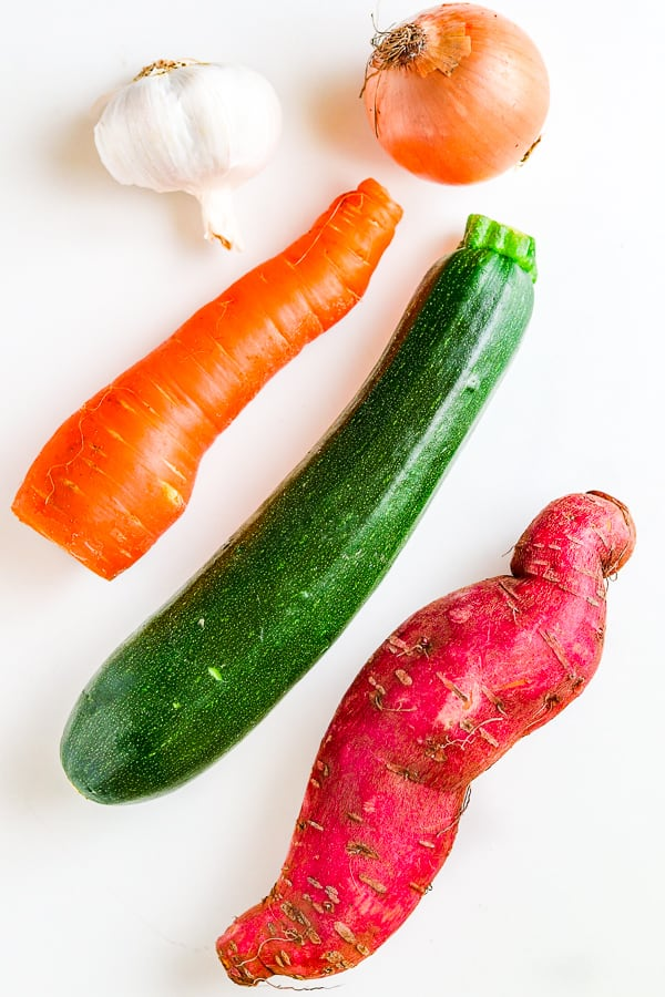 ingredients for vegetable galette