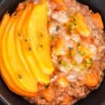 overnight oats petit-déjeuner sain à la mangue