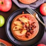 cornflour pancakes with apple relish