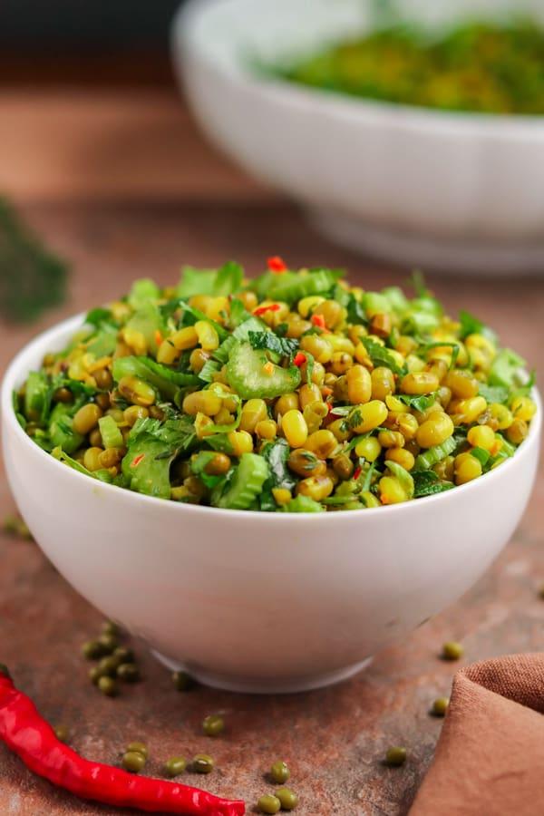 salade healthy de haricot mungo