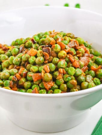 Frozen green peas with nutritional yeast recipe