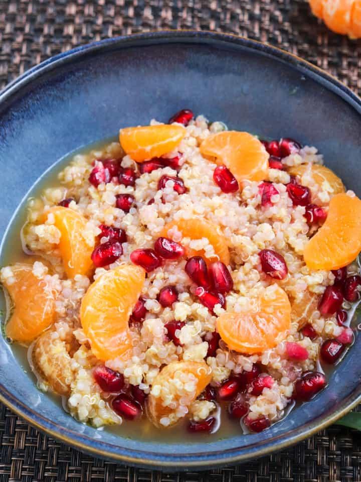 Millet quinoa with citrus & arils