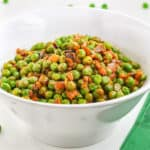 healthy frozen green peas