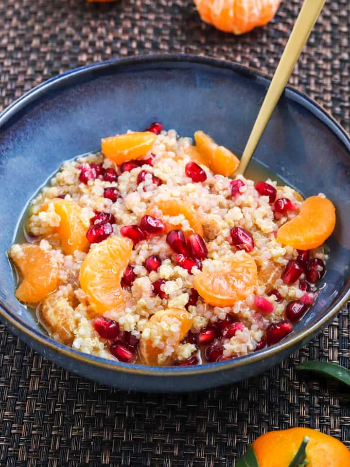 Quinoa millet with citrus for breakfast