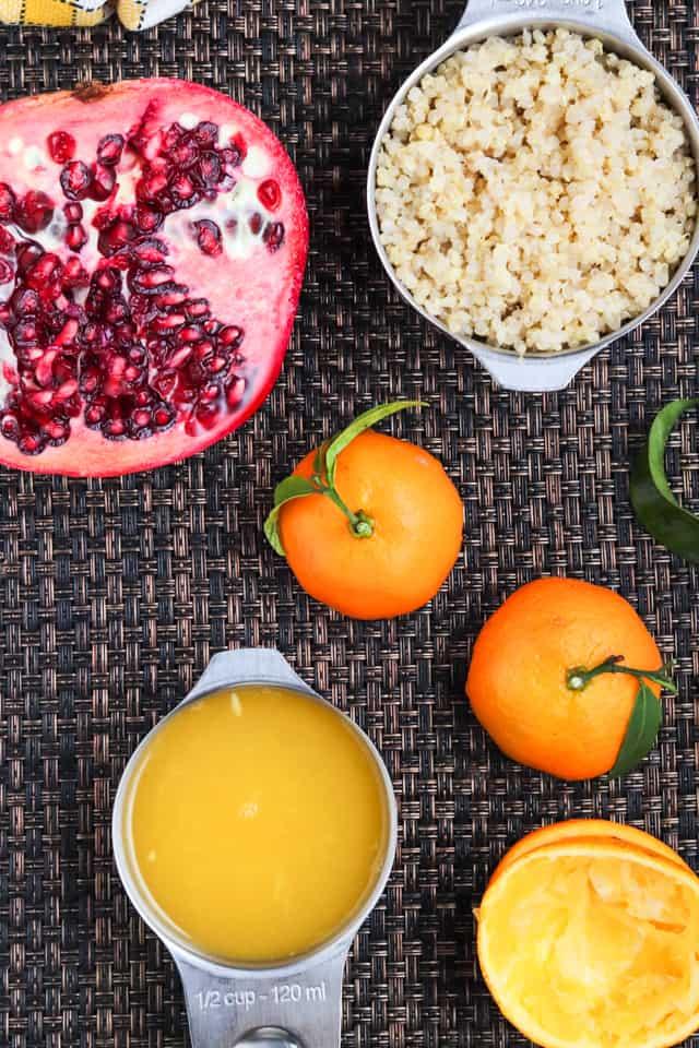 ingredients for quinoa millet breakfast