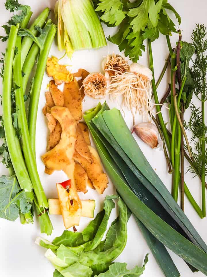 vegetable scraps for vegetable broth