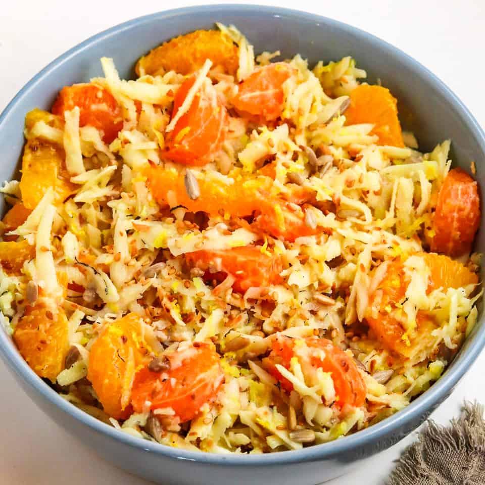 Mandarin orange salad with parsnip - FOODHEAL