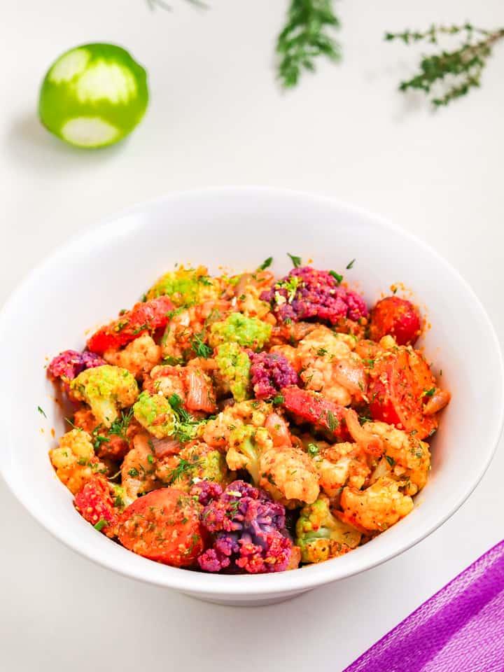 smoky cauliflower potato salad