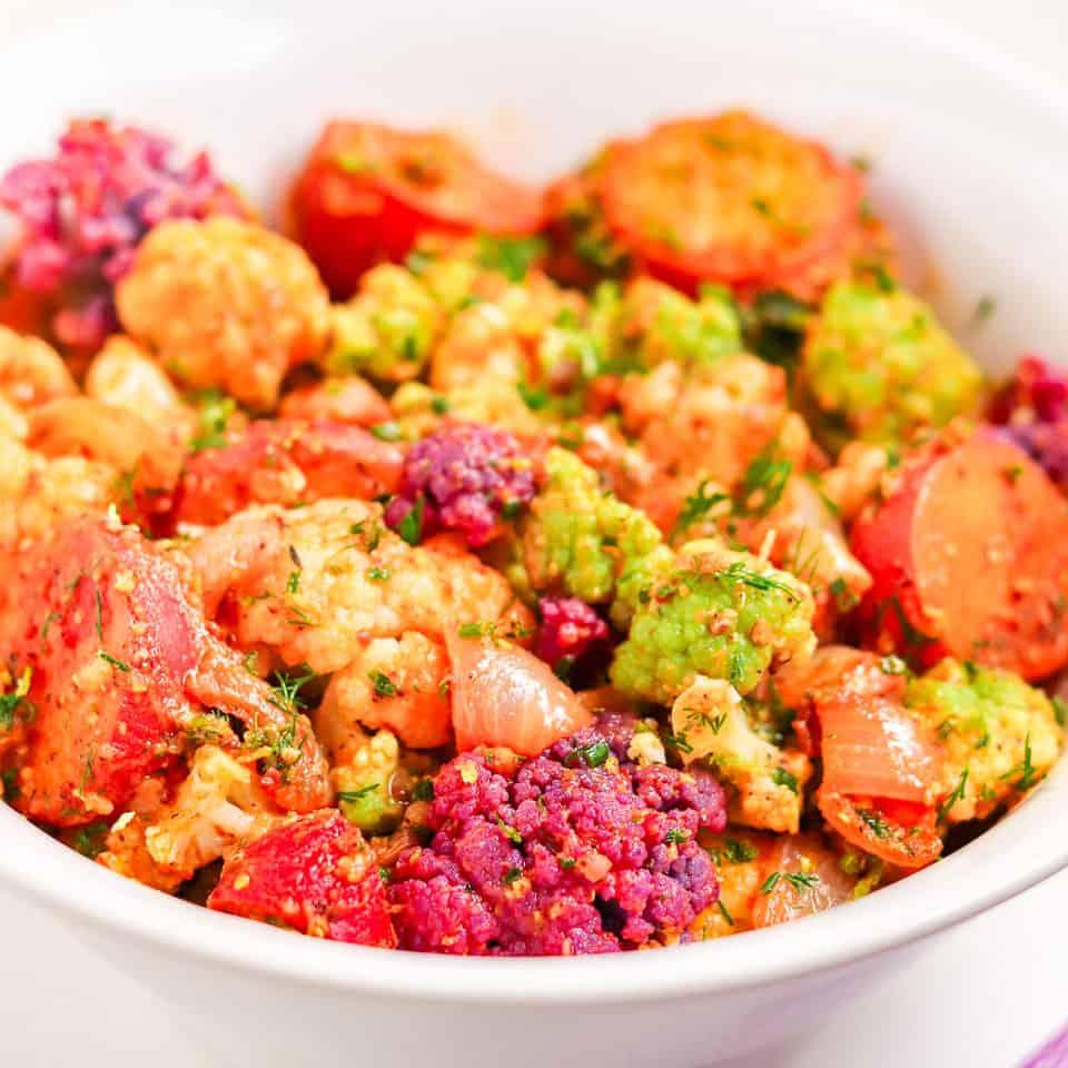 smoky cauliflower salad
