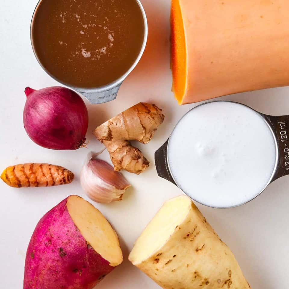 ingredients for healthy sweet potato recipe