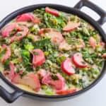 rhubarb recipe with radish greens