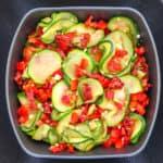 zucchini salad with sun-dried tomatoes
