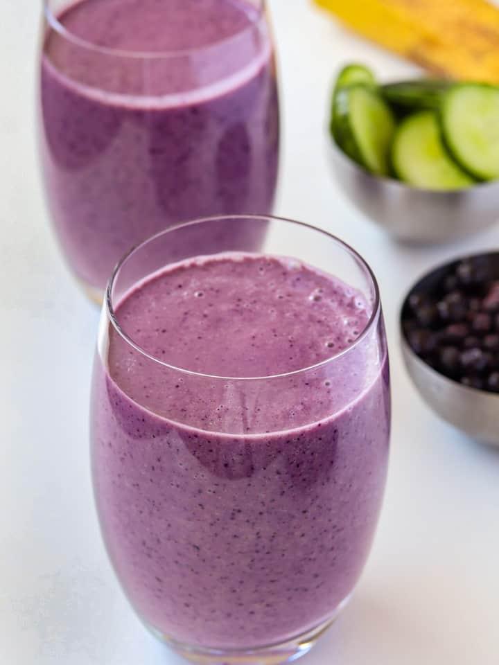 blueberries cucumber smoothie