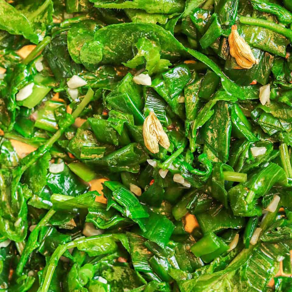 cooking radish greens