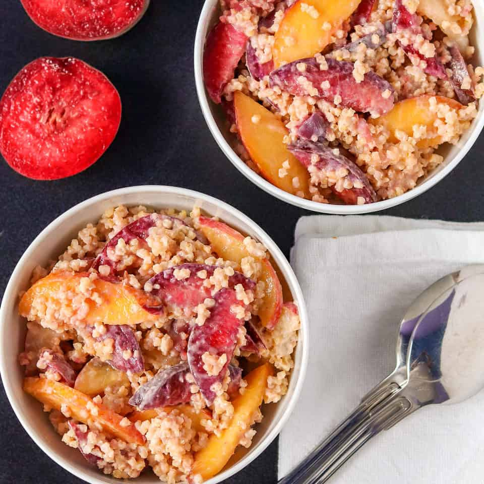 ginger millet recipe with peaches