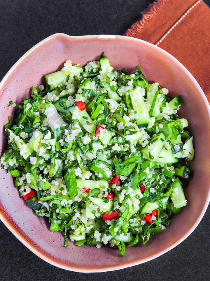 Healthy herby quinoa salad recipe