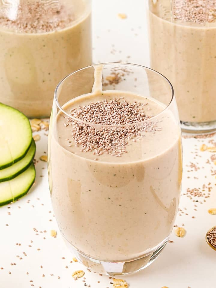 zucchini oatmeal smoothie healthy breakfast