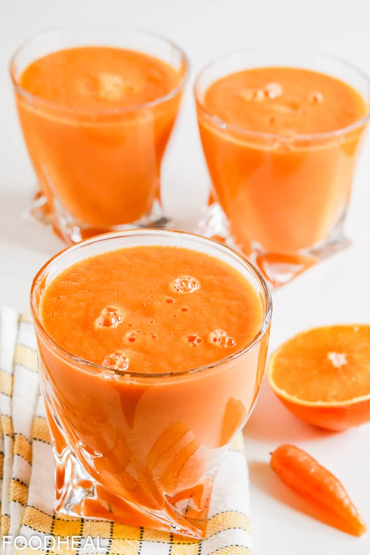 Smoothie anti-inflammatoire de curcuma de carotte