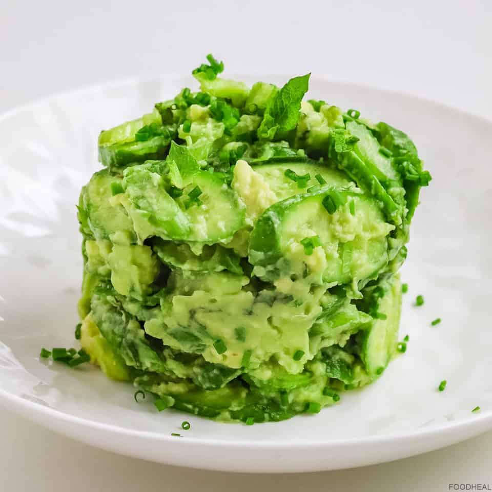 Creamy cucumber avocado salad