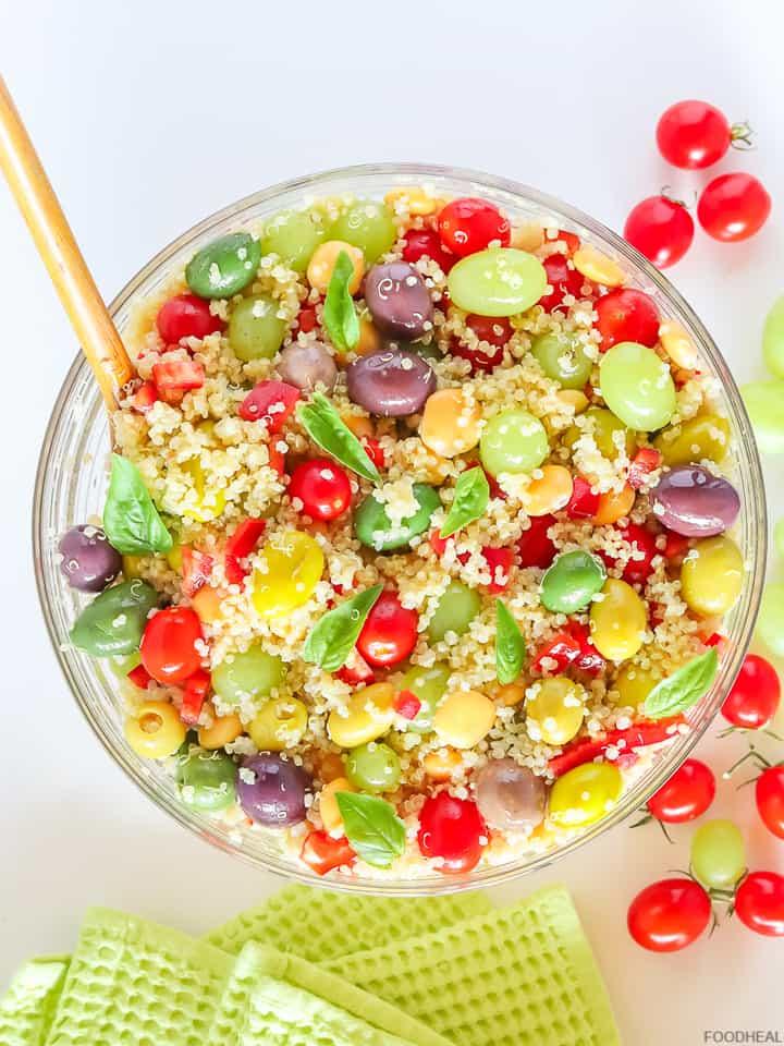 Salad bowl of quinoa Mediterranean salad