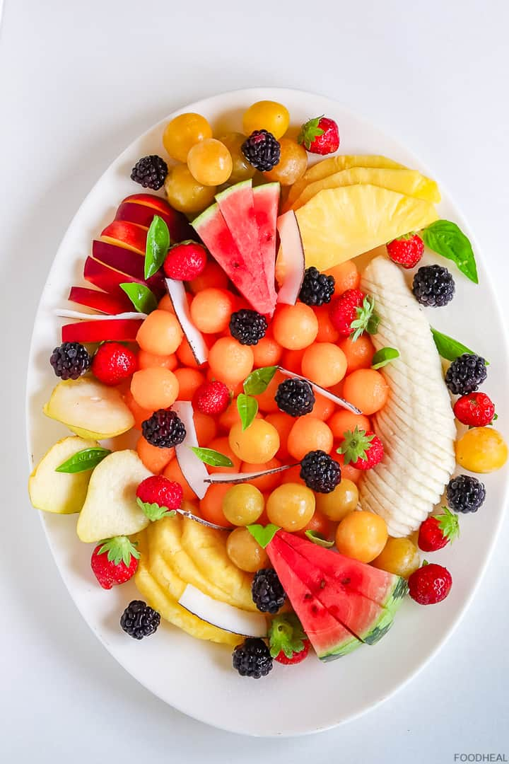 mixed fruits making a fruit salad