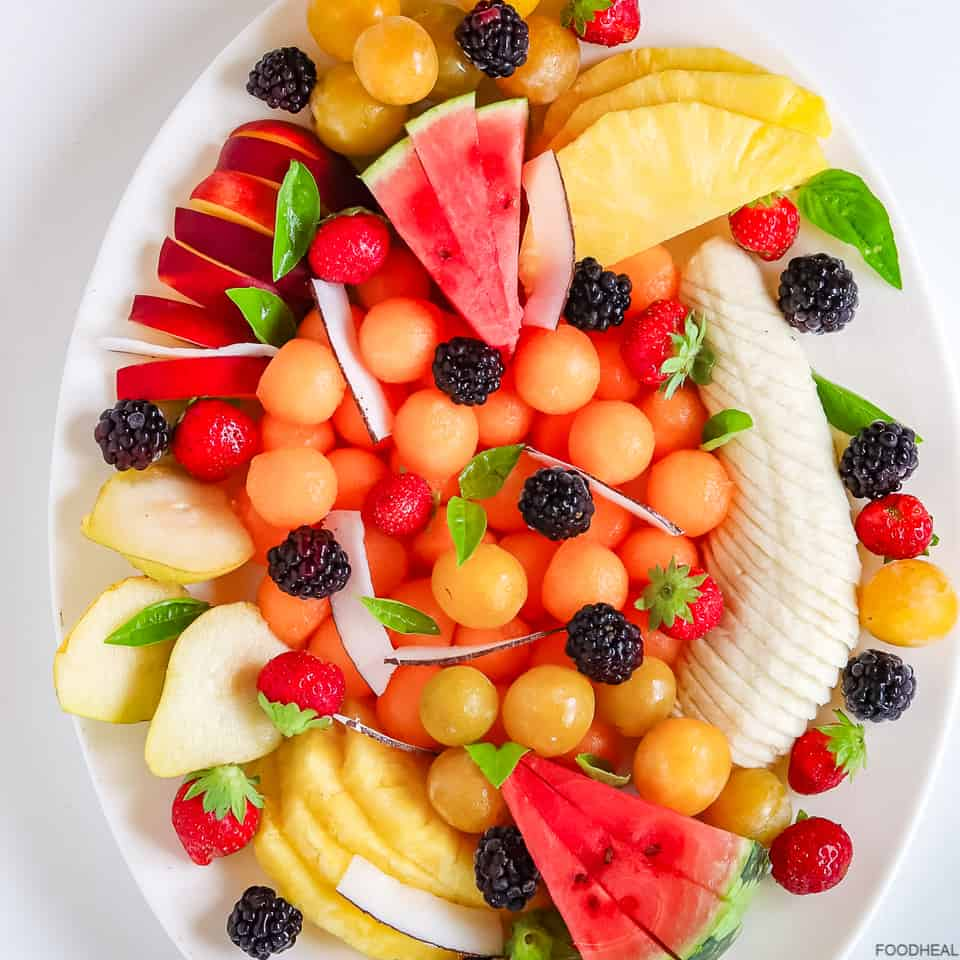 mixed fruits in a tray