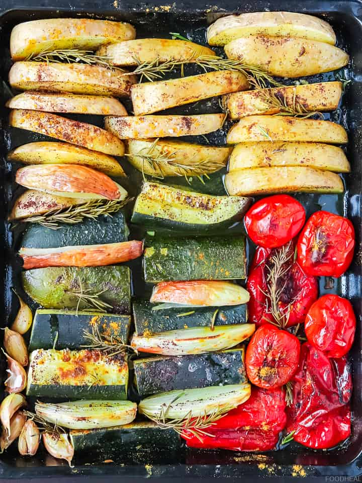 Rosemary and spiced roasted vegetables