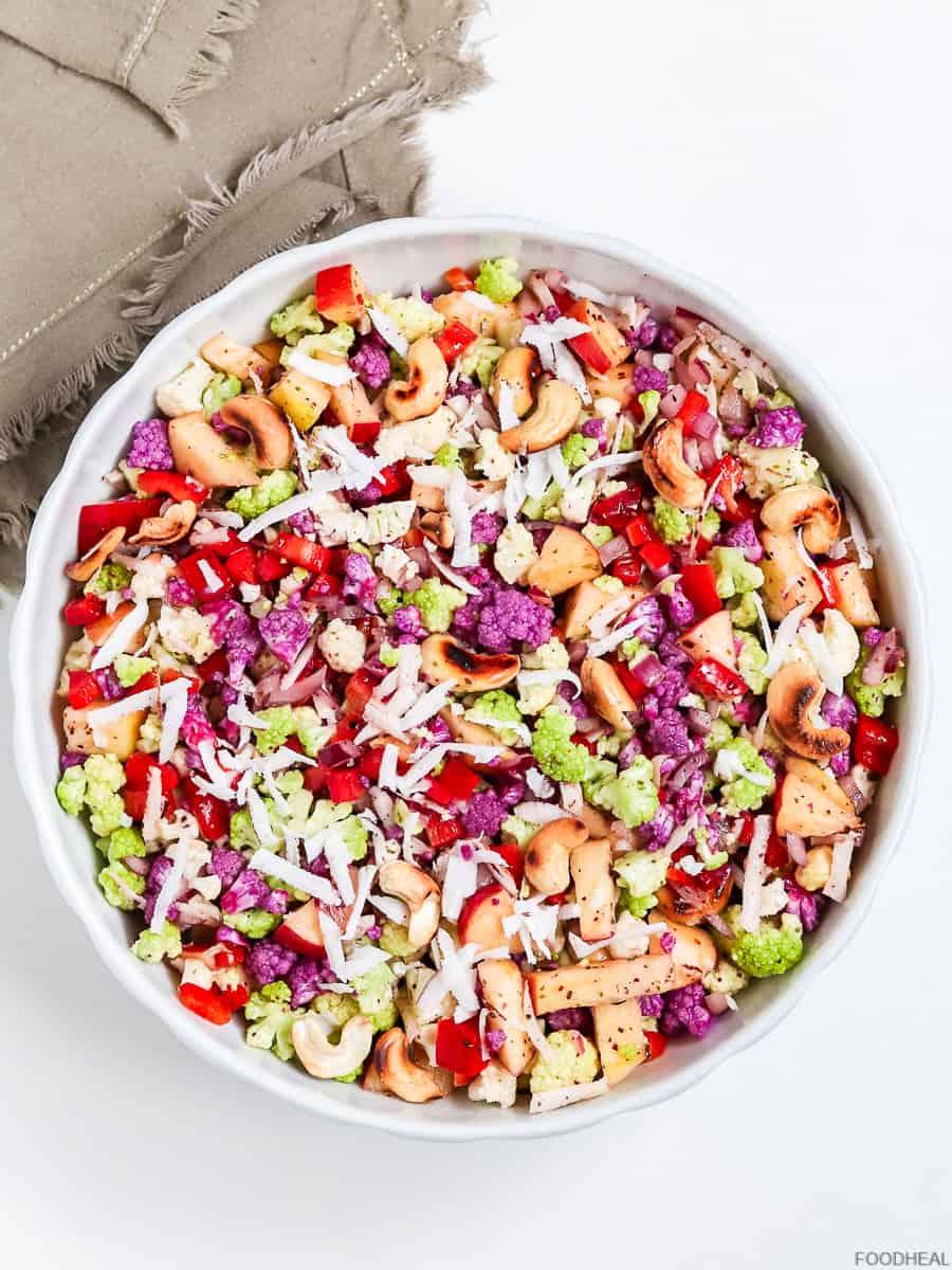 3 salade de chou-fleur aux noix de coco et noix de cajou