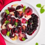 Roasted beets & red onions with pomegranate