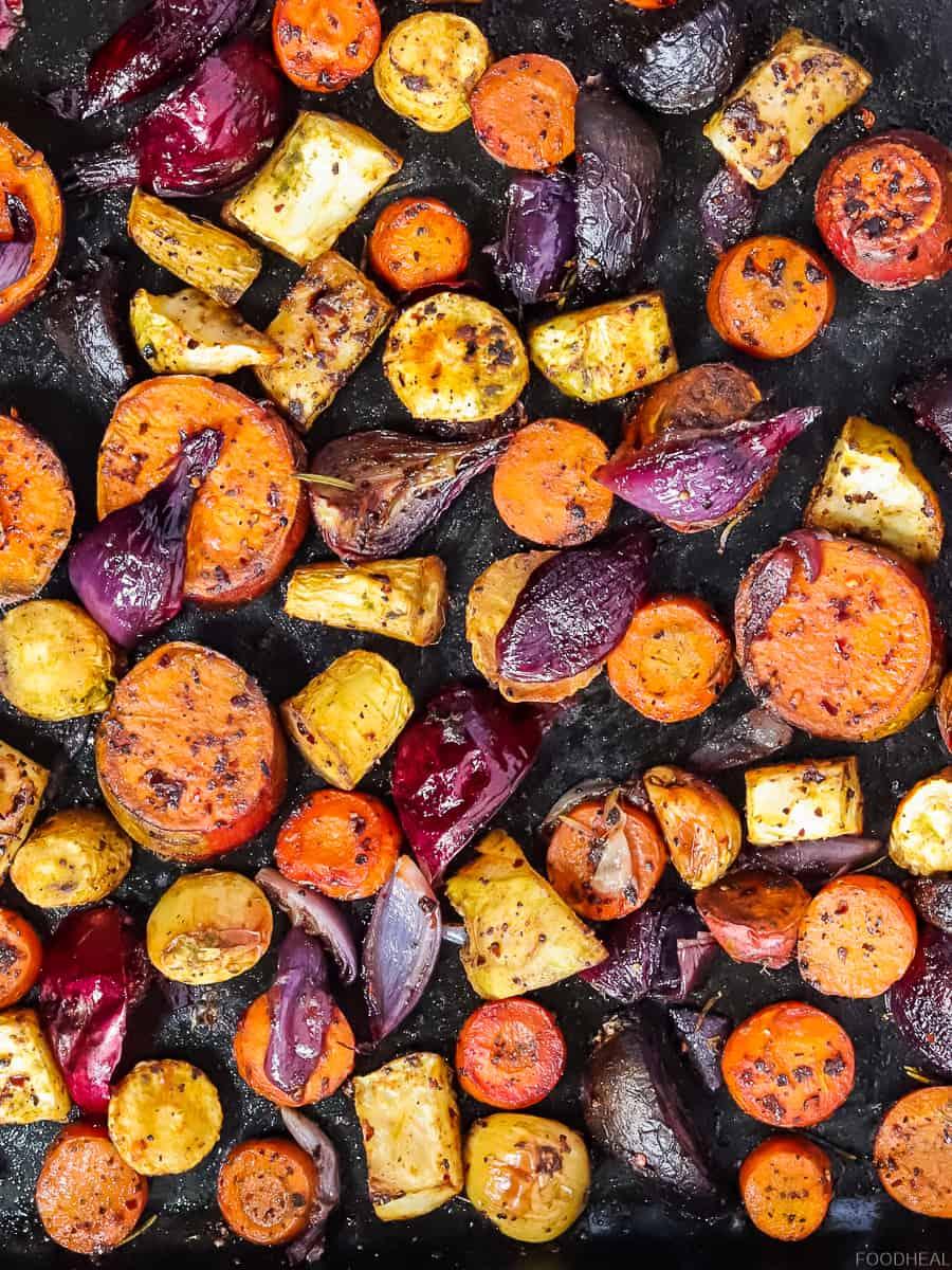 Légumes racines rôtis au four