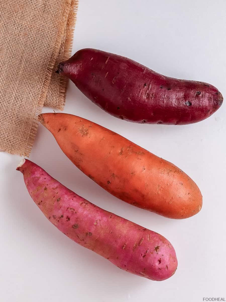 3 varieties of sweet potatoes