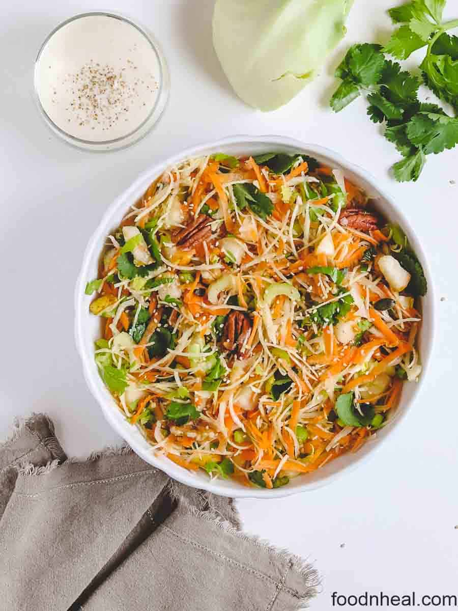 Cabbage salad with carrots & nuts
