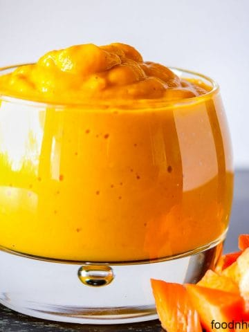 Creamy carrot sauce