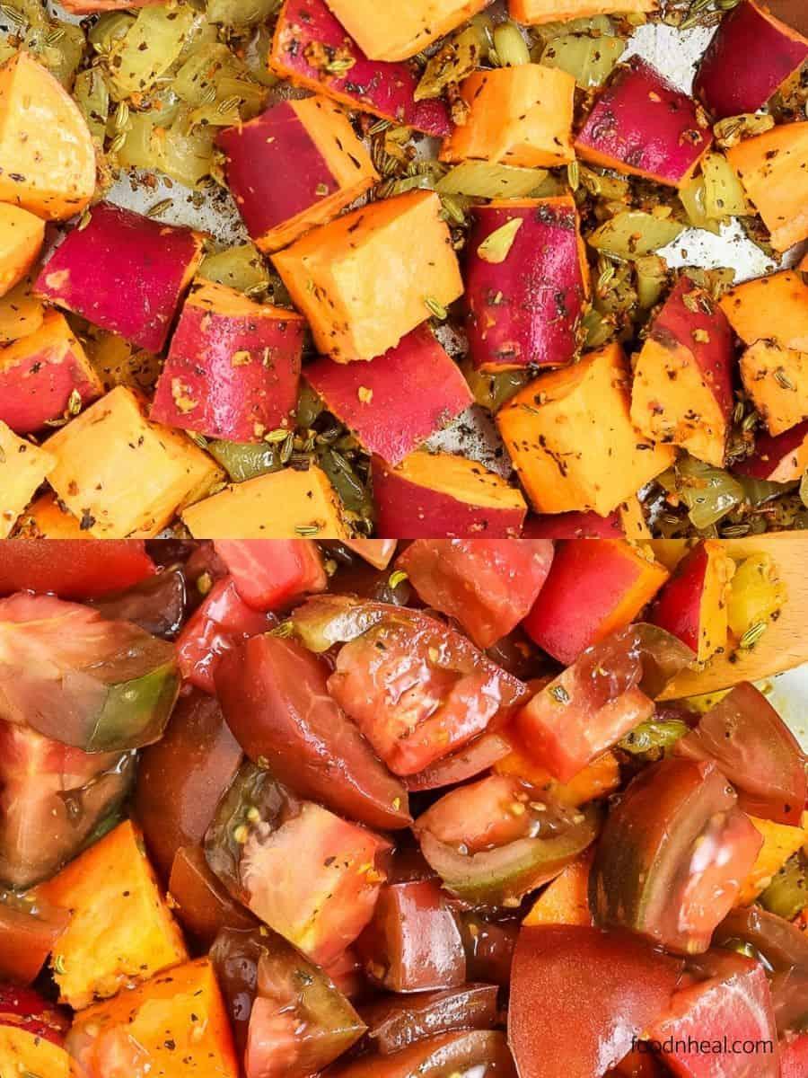 sweet potato stew, sweet potato recipe, sweet potato with beans