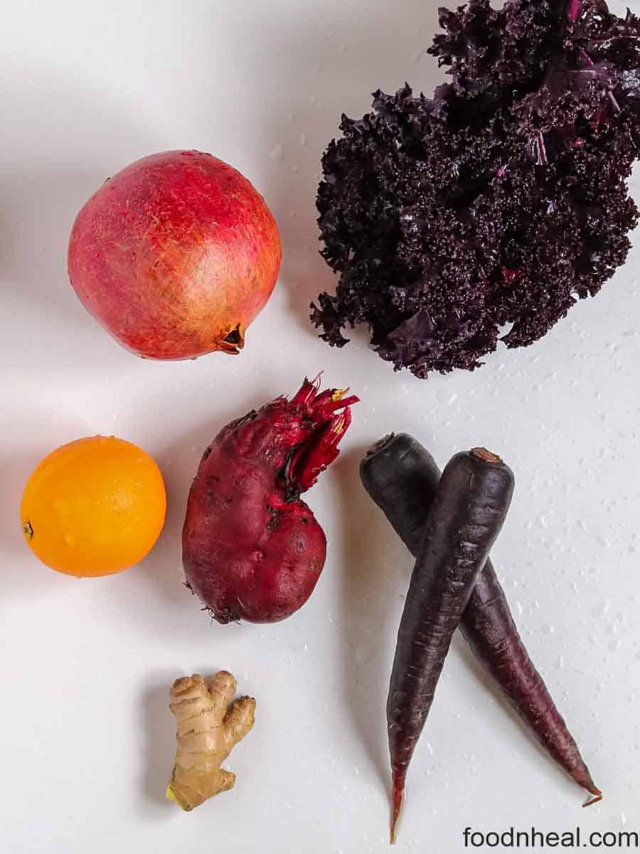 ingredients for beets juice