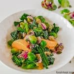 healthy brussel sprout salad